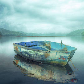 Drifting on a Misty Morning in the Fog by Debra and Dave Vanderlaan