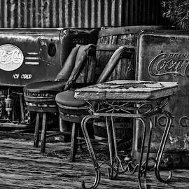 Drink Pepsi Cola And Coca Cola Bw by Susan Candelario