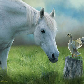 Dawn Gemme - Duck and Horse Friends Painting