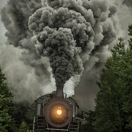 Duluth Missabe and Iron Range 332 steam locomotive 1 by Jim Pearson