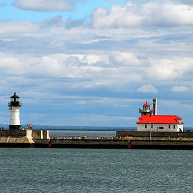 Duluth North And South Lighthouses by Bonnie Follett
