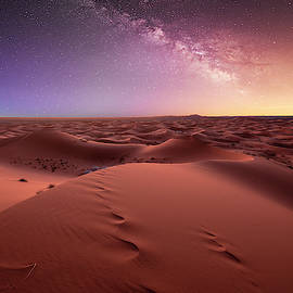 Dunes Erg Chebbi in the Sahara desert by Dimityr Chobanov