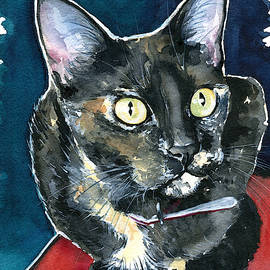 Duquesa Tortie Cat Painting by Dora Hathazi Mendes