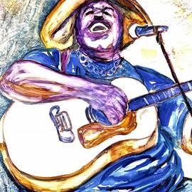 E J Mathews Cajun Blues Artist by Patty Donoghue