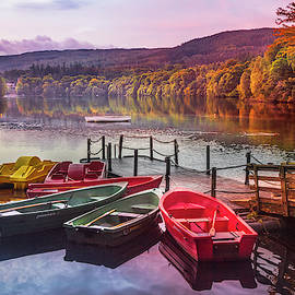 Early Fall at the Lake in Pitlochry by Debra and Dave Vanderlaan