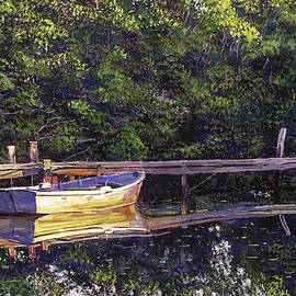 Early Morning Lake Reflections by David Lloyd Glover
