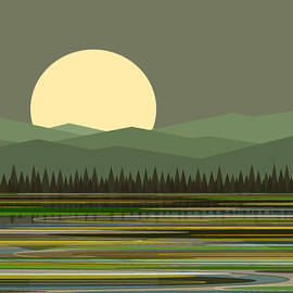 Early Morning Moon by Val Arie