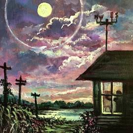 East Meets West.  Sun Meets Moon by Randy Burns