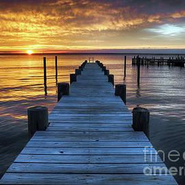 Easter Sunday Sunset On Long Beach Island by Mark Miller