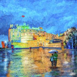 Edinburgh Castle In The Rain by Mark Tisdale