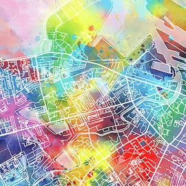 Bekim Art - edinburgh map watercolor