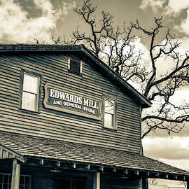 Edwards Water Mill In Sepia At College Of The Ozarks by Gregory Ballos