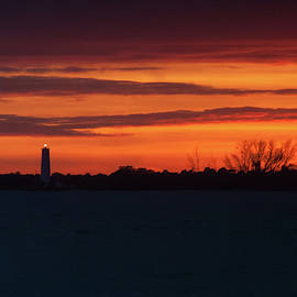 Egmont Key Lighthouse Sunset by Paul Rebmann