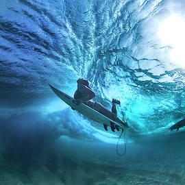 Ehukai Duck-Dive by Sean Davey