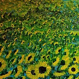 Electric Sunflowers 1 by Barbara Donovan