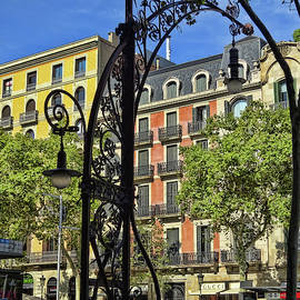 Elegant Street Lamp - Barcelona by Allen Beatty
