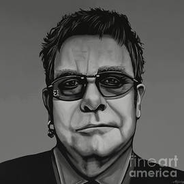 Elton John Painting by Paul Meijering