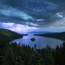 Emerald Bay Electric Skies By Brad Scott by Brad Scott