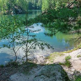 Emerald Lake in Adrshpach Rocks 2 by Jenny Rainbow
