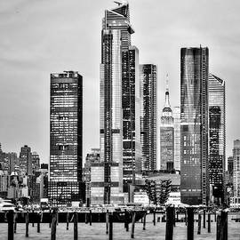 Empire State Nyc Hudson Yards  Bw by Susan Candelario