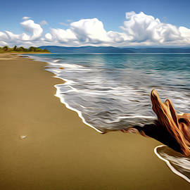 Empty beach in Costa Rica by Alexey Stiop