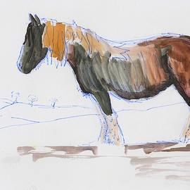 En Plein Air Horse Painting by Mike Jory