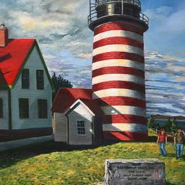 End of Summer, West Quoddy Light by Eileen Patten Oliver