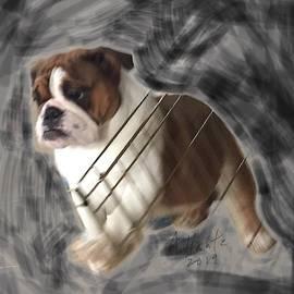 English Bulldog Gert, In Motion by Adrienne Hantz Kelley