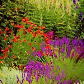 English Flower Border Art by Martyn Arnold
