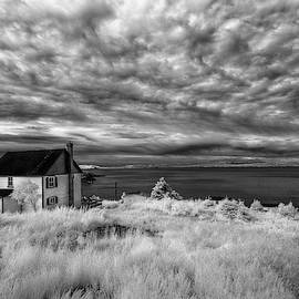 English Harbour storm clouds infrared by Murray Rudd