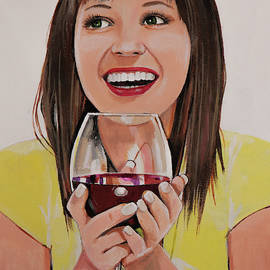Enjoying My Wine by Bill Dunkley