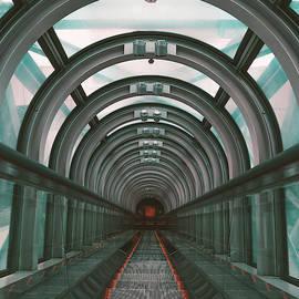 Escaletor in Umeda Sky Building, Osaka, Japan by Masha Lince