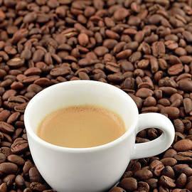Espresso coffee and coffee beans II by George Atsametakis