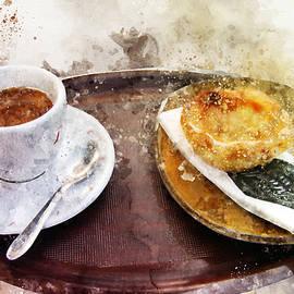 Espresso with pastel de nata - a Portuguese classic by Western Exposure