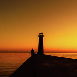 Established in 1839 Grand Haven lighthouse by Garrick Besterwitch