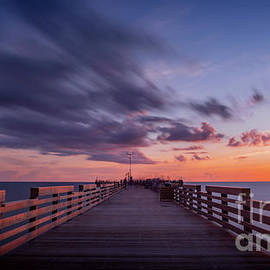 Eternal Sunset At The Pier in Venice, Florida by Liesl Walsh