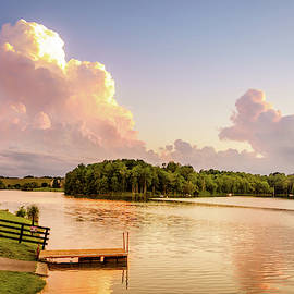 Evening at a lake in Central Kentucky by Alexey Stiop