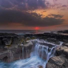 Evening Cascade by Jabez Art