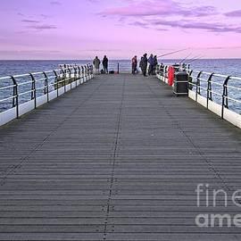 Evening Fishing On Saltburn Pier by Martyn Arnold