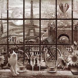 Evening In Paris Vintage by Debra and Dave Vanderlaan