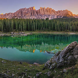 Evening on Rainbow Lake by Dmytro Korol