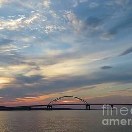 Evening Sky Over the Bridge by Bobbie Moller