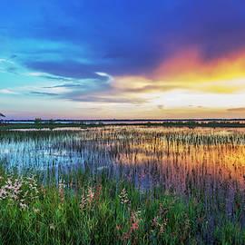 Evening's Last Breath of Color by Debra and Dave Vanderlaan