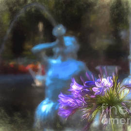 Expressive Flower And Fountain At Forsyth Park by Amy Dundon