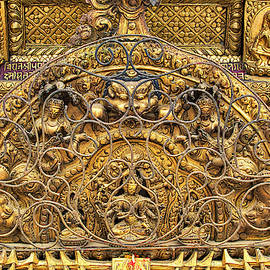 Exquisite Buddhist Temple Decoration by Lindley Johnson