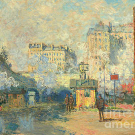 Exterior Of Saint Lazare Station, Sunlight Effect, 1877 by Claude Monet
