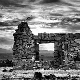 Fade Into The West - Black and White by Chrystyne Novack