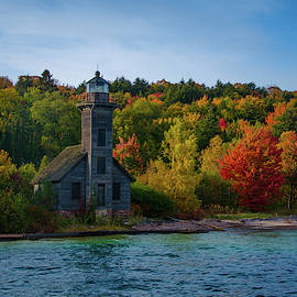Fall at Grand Island Lighthouse by Gales Of November