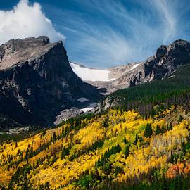Fall Colors below Hallet Peak, RMNP by Flying Z Photography by Zayne Diamond