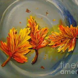 Fall Puddle by Saundra Johnson